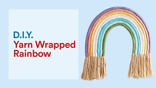 Yarn-Wrapped Rainbow Wall Hanging | Michaels