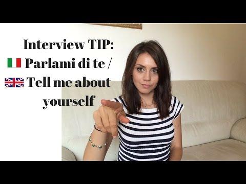 Colloquio di lavoro, come rispondere a: Parlami di te - Tell me about yourself #1