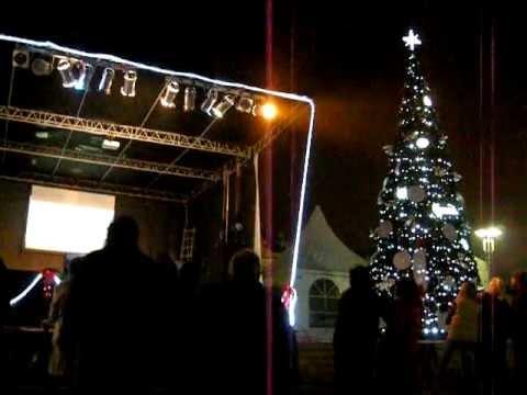 Chrismas bulgarian karaoke open air - Коледа български караоке открито