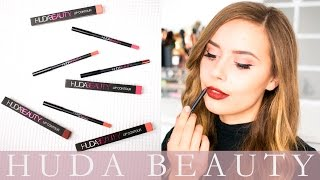 Huda Beauty Lip Contour: First Impressions and Swatches | Hello October(Huda Beauty Lip Contours: First Impressions and Swatches The shade