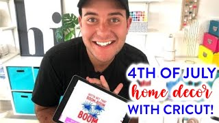 HOW TO LAYER IRON-ON - 4TH OF JULY HOME DECOR WITH CRICUT!