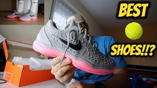 NIKE AIR ZOOM CAGE 3 CLAY UNBOXING/REVIEW *BEST TENNIS SHOES?*