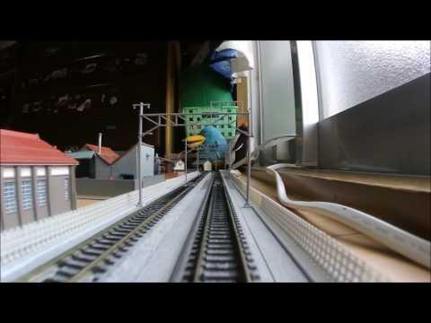 Nゲージ車載 オハネフ後方 夜行列車風景 BGMにどうぞ