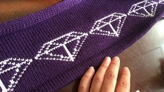 Custom Fair Isle Gem Design Punch Card Knitting Machine Studio 360k