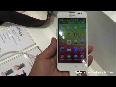 LG L65 Hands on, Quick Review, Camera, Features and Overview HD at MWC 2014