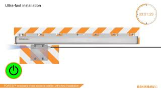Ultra-fast installation of the FORTiS™ enclosed linear encoder