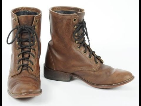 Womens Leather Lace Up Boots - YouTube