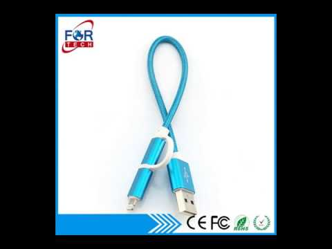 China 2-in-1 USB data cable from Shenzhen Manufacturer