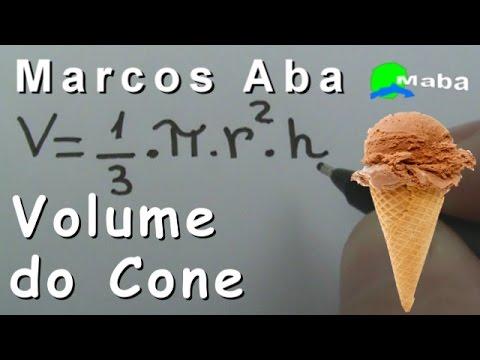 VOLUME DO CONE  - Geometria Espacial