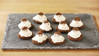 Adorable Chocolaty Melting Snowman Cookies