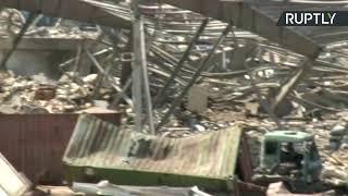 Devastadoras imágenes de la zona de la explosión en Beirut