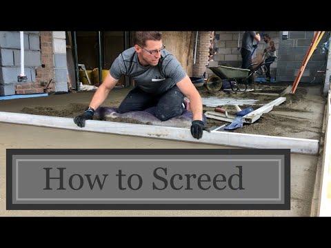 How To Diy Floor Screed Youtube