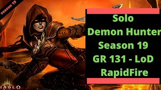 Diablo 3 Demon Hunter LoD RapidFire Season 19 - 131 Clear - Rank 1