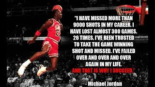 MICHAEL JORDAN MISSED MORE THAN 9000 SHOTS [ WHY HE SUCCEED ][ MOTIVATION BY ARNOLD SCHWARZENEGGER ]