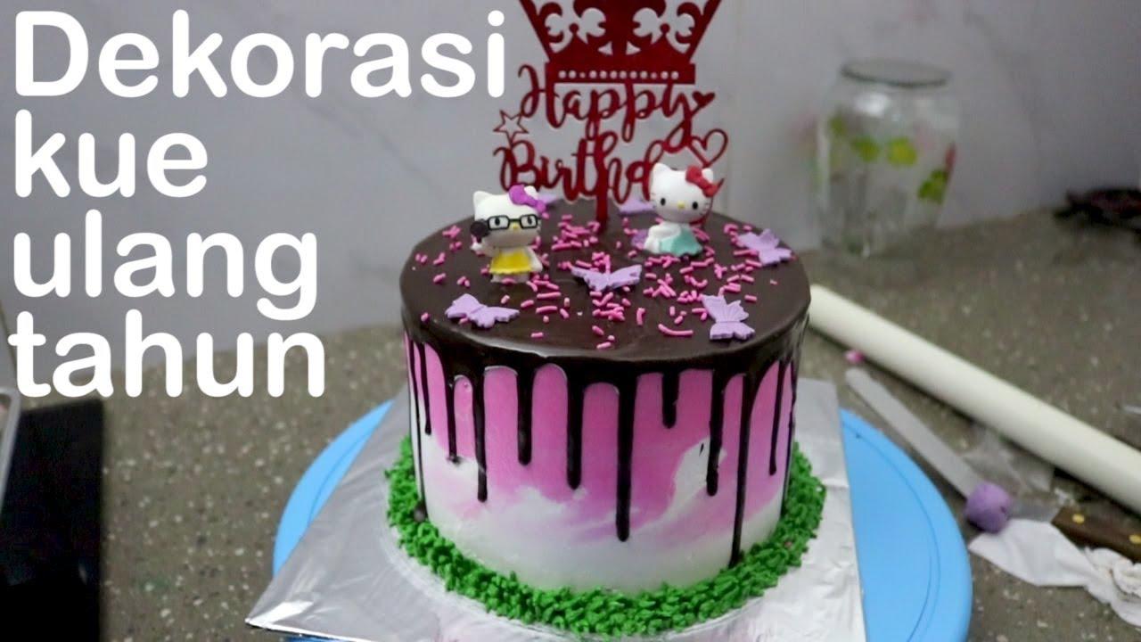 Dekorasi Kue Ulang Tahun Anak Perempuan