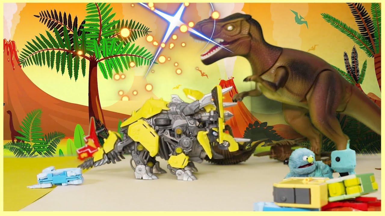 learn song   ABC Robot Transform To Dinosaur