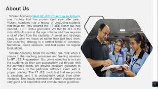 Institute Of Real Substance For IIT JEE Preparation: Vibrant Academy