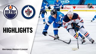 Oilers @ Jets 1/24/21 | NHL Highlights