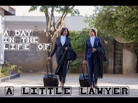 A Day In The Life Of A Little Lawyer? Baby Lawyer? Baby Barrister || Zambian Advocate || Tuttie Too