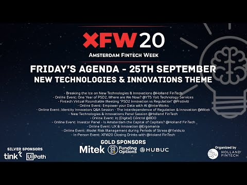 XFW20 Holland FinTech New Technologies and Innovations Panel Discussion