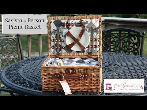 Savisto 4 Person Picnic Basket | Amy Learns to Cook