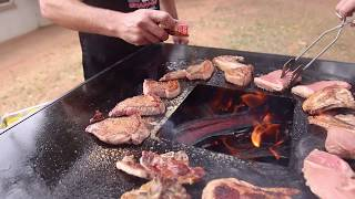 Chad-O-Chef - Prego steaks on the Boma Braai