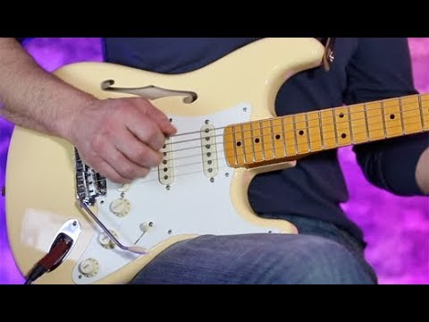Review Demo Fender Eric Johnson Thinline Stratocaster Youtube