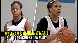 Shaq's Daughters Me'arah & Amirah O'Neal Are The Best Hooping SISTER DUO In America! Scary Combo!!