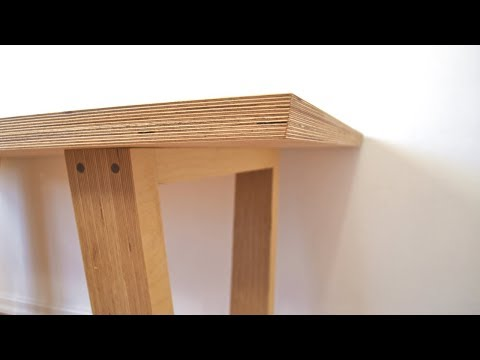 DIY Modern Plywood Dining Table