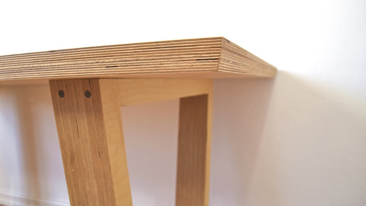 diy modern plywood dining table youtube