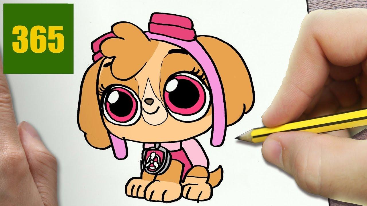 Comment Dessiner Skye Patrouille Canine Kawaii Etape Par Etape Dessins Kawaii Facile Youtube