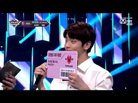 TXT YEONJUN SOOBIN And VIXX RAVI Special MC + Ending @ M Countdown 190321
