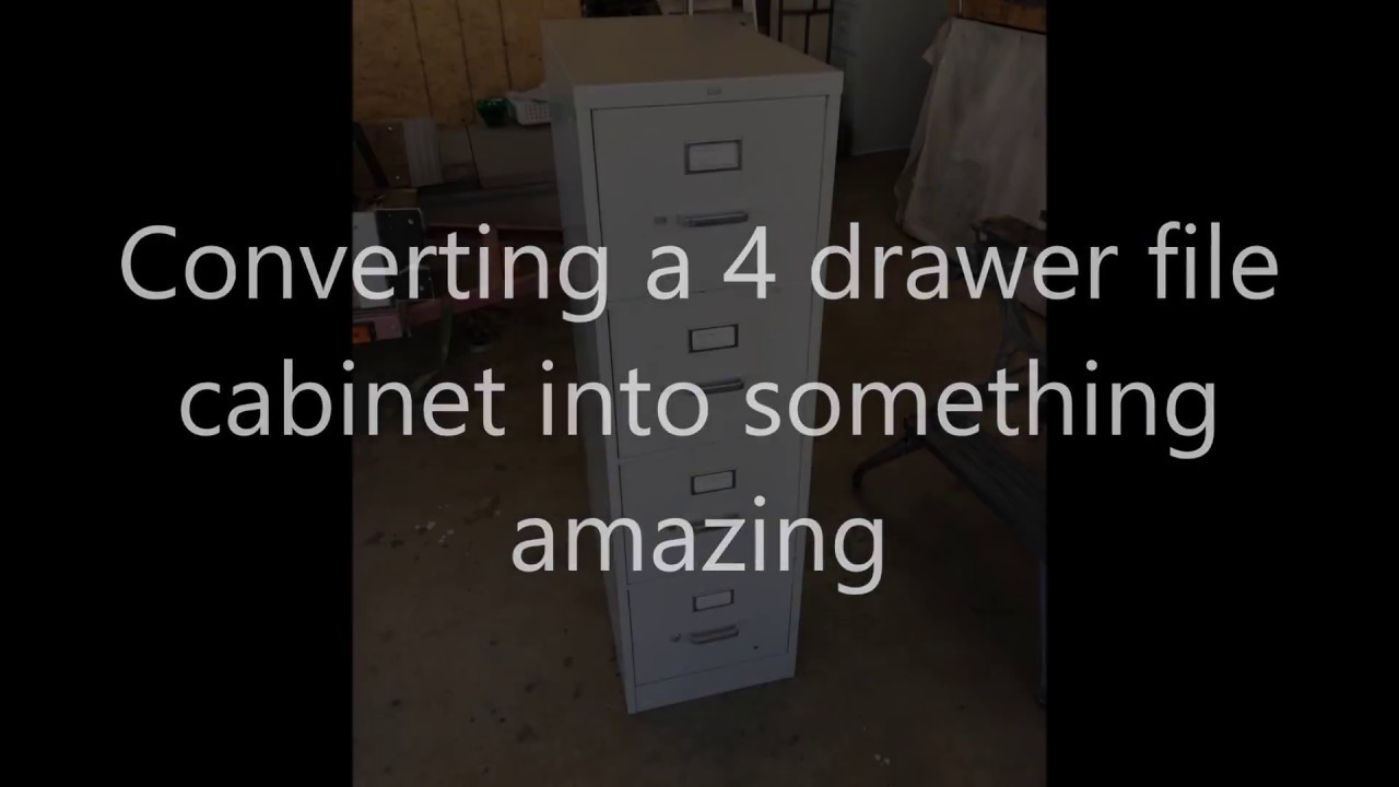4 Drawer File Cabinet Converted To A Hidden Safe