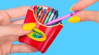 10 حيل (تقدروا تعملوها بنفسكم) لعمل أدوات مدرسية مصغرة من ال