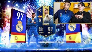 🤑 300€ per SERGIO RAMOS TOTY 97!!! Pack Opening 125k Lightning Rounds | FIFA 19 ITA