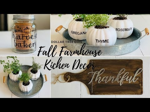 💲DOLLAR TREE DIY FALL FARMHOUSE KITCHEN DECOR💲