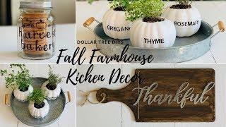 dollar Tree Diy Fall Farmhouse Kitchen Decor