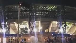Фанаты Наполи во время гимна ЛЧ