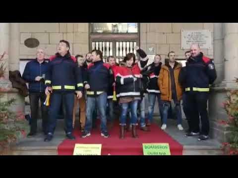 Protesta de los bomberos en el concello 10 12 18