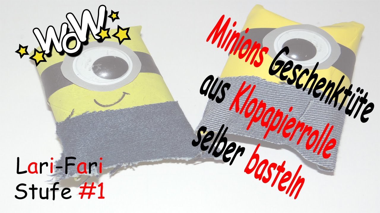 minions geschenkt te aus klopapierrolle diy geschenkverpackung selber machen youtube. Black Bedroom Furniture Sets. Home Design Ideas