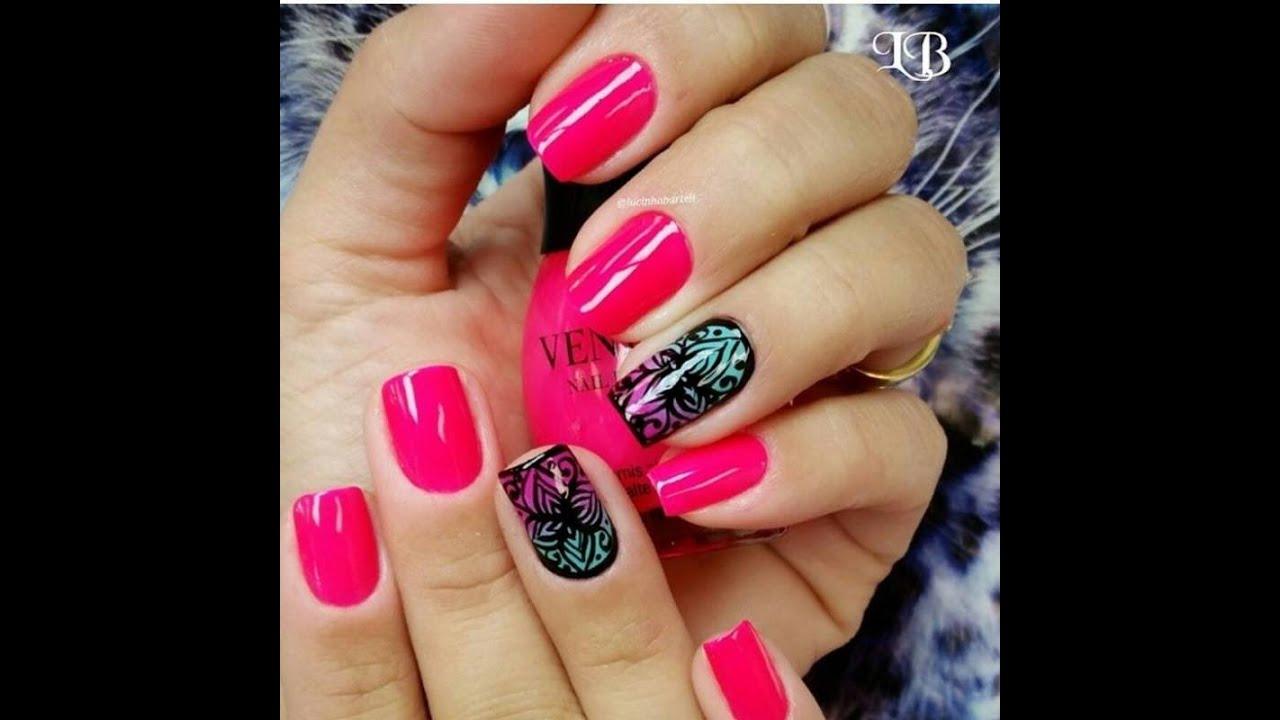 Nail Art On Youtube: Pink Nail Art