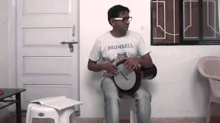 Darbuka (Arabic belly dance music instrument) Maqsum basic by an Indian beginner