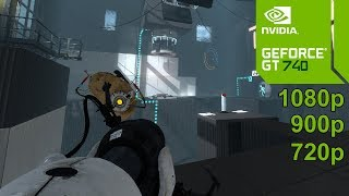 Portal 2 GamePlay [PC] in Nvidia Geforce GT 740 - No Commentary part 1
