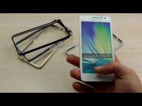 ОБЗОР: Шикарный Металлический Бампер для Samsung Galaxy A3 A300H/DS