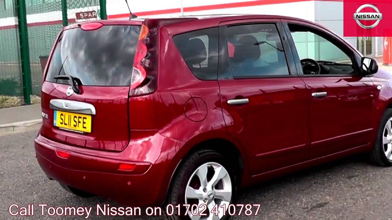 2011 nissan note tekna magnetic red sl11sfe for sale at toomey nissan southend youtube. Black Bedroom Furniture Sets. Home Design Ideas