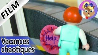 Film Playmobil | Chaos à l'aéroport! Emma appuie sur le bouton d'alarme! Vacances chaotiques
