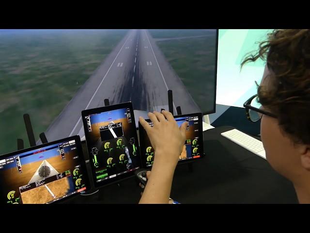 A demo of the Beta eVTOL simulator at AirVenture2019