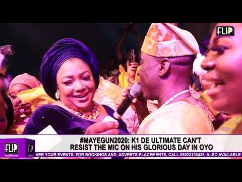 #mayegun2020: k1 de ultimate can't hold his joy, sings at intervals for his wife, alaafin wives mp3