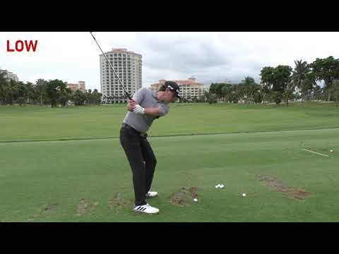 Stack and Tilt Golf Swing Demonstration - Draw | Fade | Low | High | Max Power