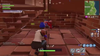 Fortnite battle royale attempting to take all the trees out of wailing woods